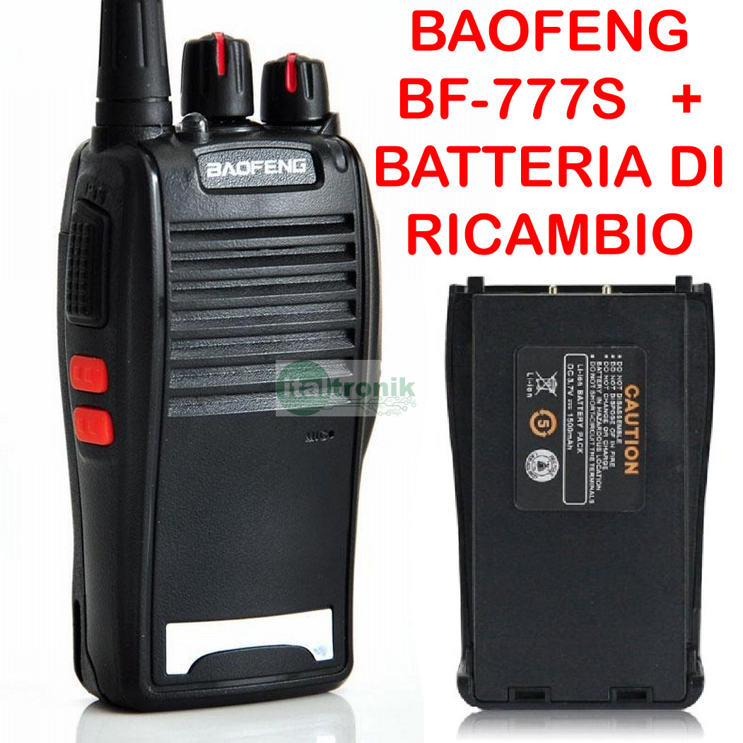 Ricetrasmittente BAOFENG BF-777S Uhf 400-470 Mhz Radio Walkie Talkie 2 Batterie