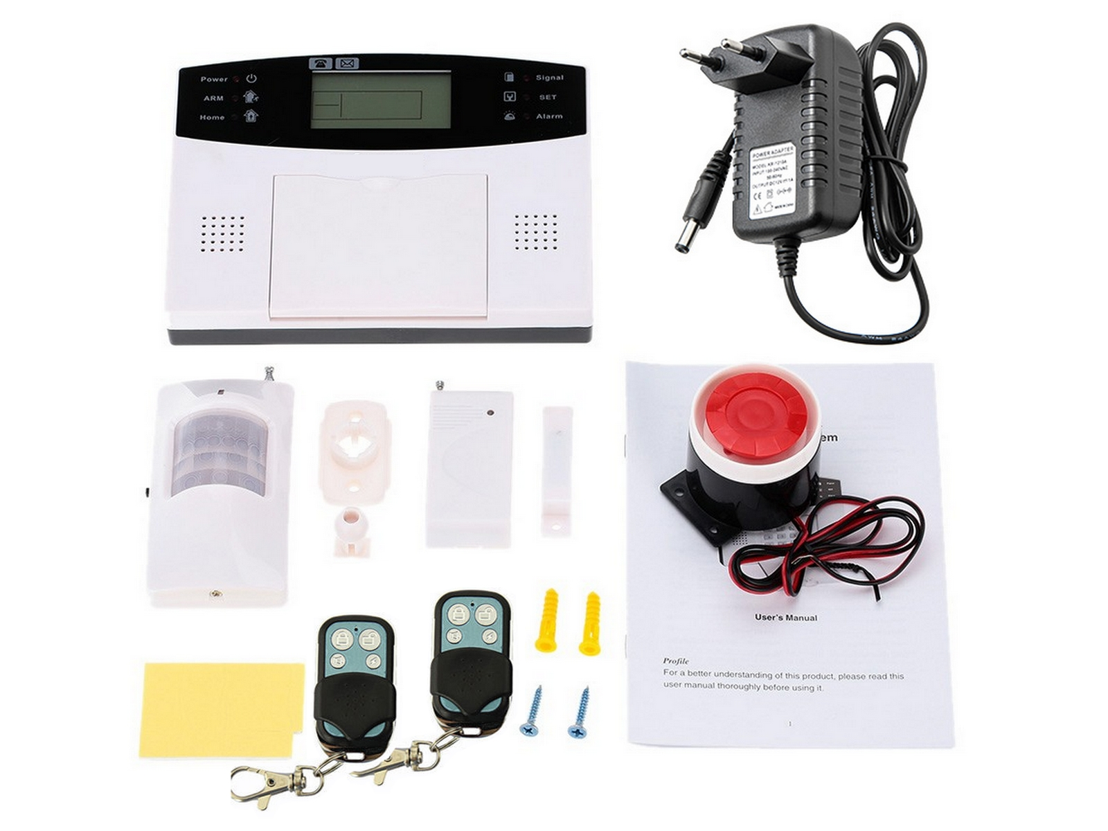 ANTIFURTO WIRELESS G 015 ALLARME GSM/SMS INTERFONO TIMER ZONE INTERFONO