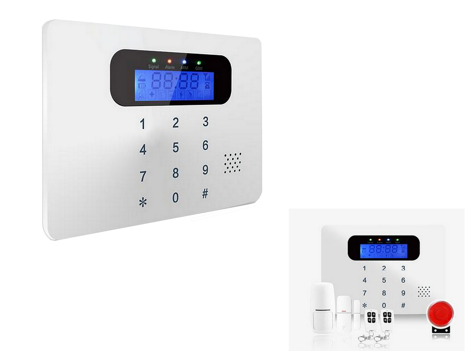 ANTIFURTO WIRELESS G-030C, ALLARME INTERFONO SMS APP INTRUSIONE GAS EMERGENZA