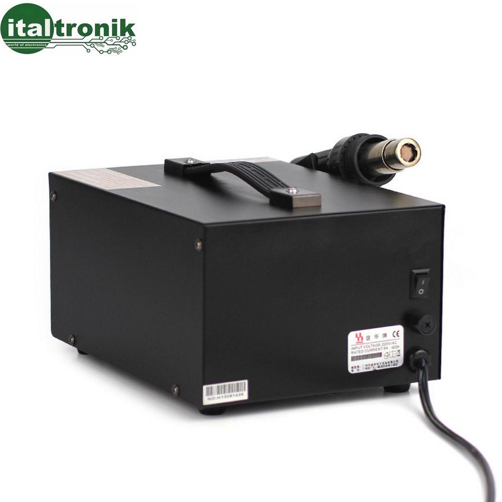 sospensione automatica per termorestringimento Stazione dissaldante 100-550 ℃ stazione di saldatura ad aria calda da 1200 W con touchscreen digitale intellettuale antistatica