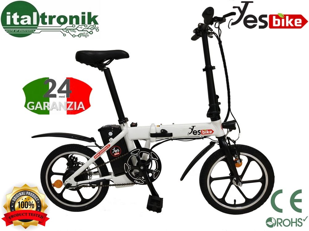 BICICLETTA ELETTRICA PIEGHEVOLE 250W 36V YES BIKE SMART ADVANCE 16""