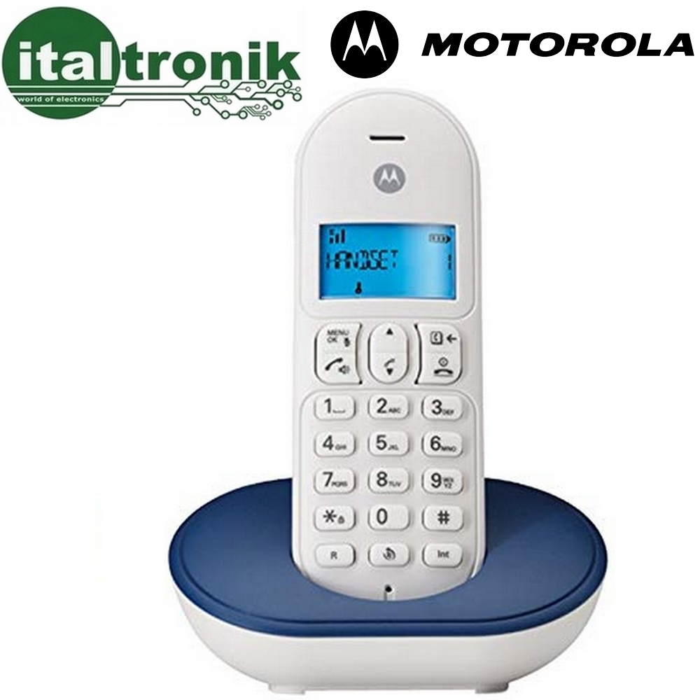 TELEFONO CORDLESS DIGITALE MOTOROLA T101 DECT GAP