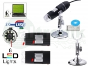 MICROSCOPIO USB DIGITALE 500X MAX PC NOTEBOOK FOTO VIDEO 8 LED STAFFA 2.0 MPX CD