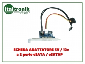 ADATTATORE PER SATA A DUAL POWER OVER eSATA CON CAVO 9 PIN USB