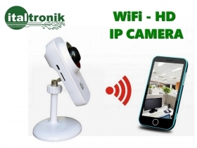 MINI VIDEOCAMERA IP CON WiFi INTERCOMUNICANTE MOTION DETECT INFRAROSSI NOTTURNA