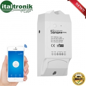 CENTRALINA 2 CH SONOFF DUAL WIFI SMART SWITCH INTELIGENTE CONTROLLO SMARTPHONE