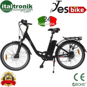 "BICICLETTA ELETTRICA  250W YES BIKE YES BIKE ECO CITY 26"" NERO"