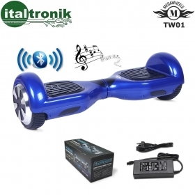 "HOVERBOARD MEGAWHEELS BLUE CON RUOTE DA 6,5"" CON  BLUETOOTH E LED"