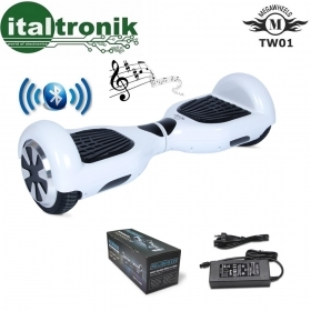 "HOVERBOARD MEGAWHEELS BIANCO CON RUOTE DA 6,5"" CON  BLUETOOTH E LED"