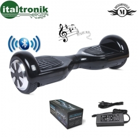 "MEGAWHEELS HOVERBOARD NERO CON RUOTE DA 6,5"" CON LED E BLUETOOTH"