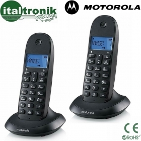 CORDLESS MOTOROLA C1001 LB+ DUO DISPLAY RETROILLUMINATO DIGITALE