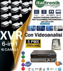 KIT DVR VIDEOSORVEGLIANZA - DVR 16C