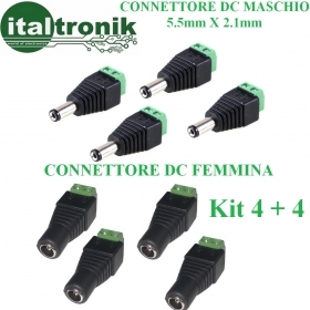 KIT 8 CONNETTORI MISTI SPINA P