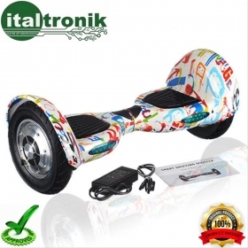 "HOVERBOARD MULTI COLOR FANTASIA CON RUOTE DA 10"" CON  BLUETOOTH E LED"