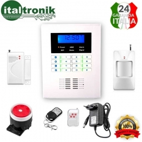 ANTIFURTO WIRELESS G-017 ALLARME INTERFONO SMS COMBINATORE TELEFONICO PSTN/GSM