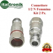 CONNETTORE  1/2 N FEMMINA  KIT 2 PZ